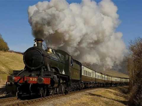 TRAIN Sound Effects  Steam Train Start and Whistle