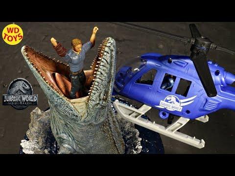 New Jurassic World Destruct-a-saurs Pteranodon Copter Attack Set Fallen Kingdom Mattel Dinosaur Toys