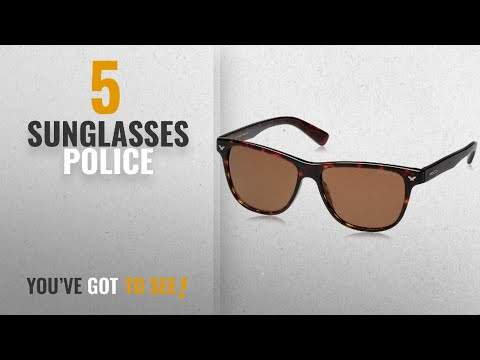 Top 10 Sunglasses Police [2018]: Police Polarized Wayfarer Unisex Sunglasses