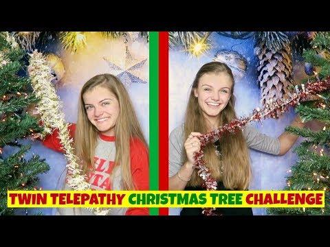 Twin Telepathy Christmas Tree Challenge ~ Jacy and Kacy