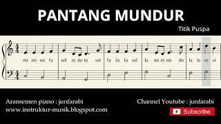 Gambar cover not balok pantang mundur - lagu wajib nasional - doremi / solmisasi