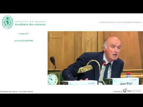 [Conférence] JP. DE GAUDEMAR - Teaching science for human sustainable development