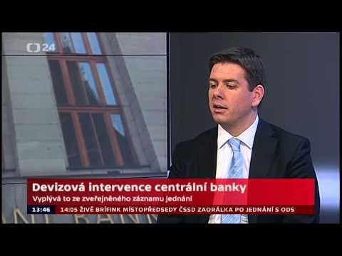 Jan Skopeček: ČT24: Devizová intervence centrální banky