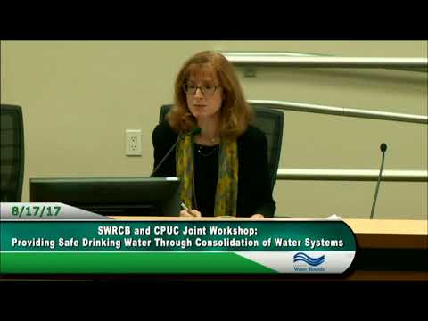 Joint Meeting with CPUC Water Consolidation 081717