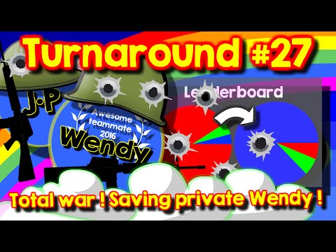 Agario team mode turnaround #27 // Saving private Wendy // Total war // Heroic fight