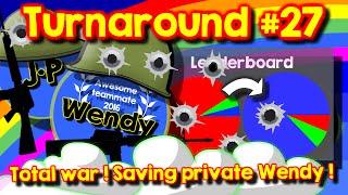 Agario team mode turnaround #27 // Saving private Wendy // Total war // Heroic fight