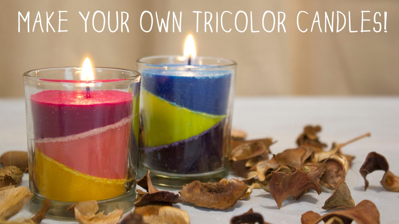 How to Make Your Own TriColor Candles | DIY Candles - YouTube