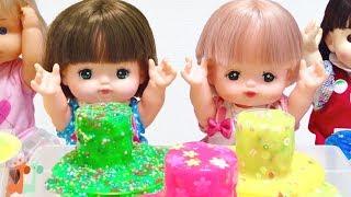メルちゃん スライム作り 対決 デコスライム / Mell-chan Doll  Amazing DIY Slimes