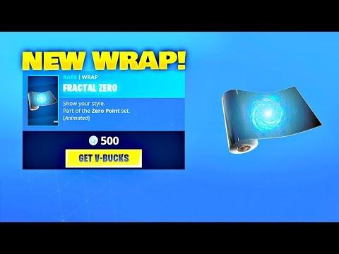 *NEW* FRACTAL ZERO WRAP! Fortnite ITEM SHOP [August 7, 2019] | Fortnite Battle Royale