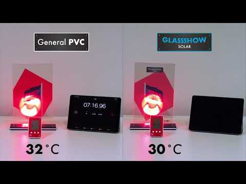 Comparison of room temperature difference between GLASSSHOW SOLAR and General PVC