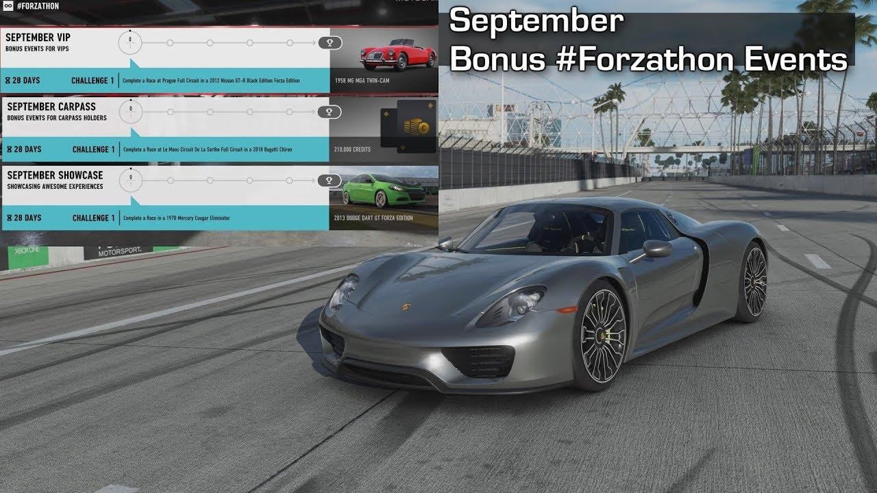 Forza Motorsport 7 - September Bonus #Forzathon Events
