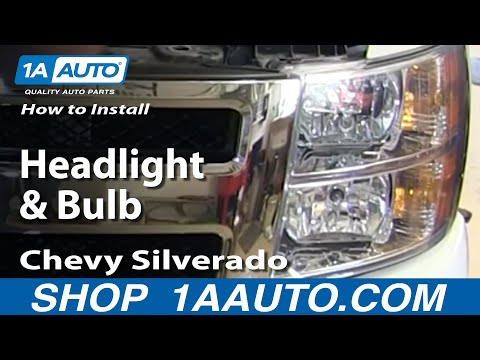 How To Install Change Headlight and Bulb 2007-13 Chevy Silverado