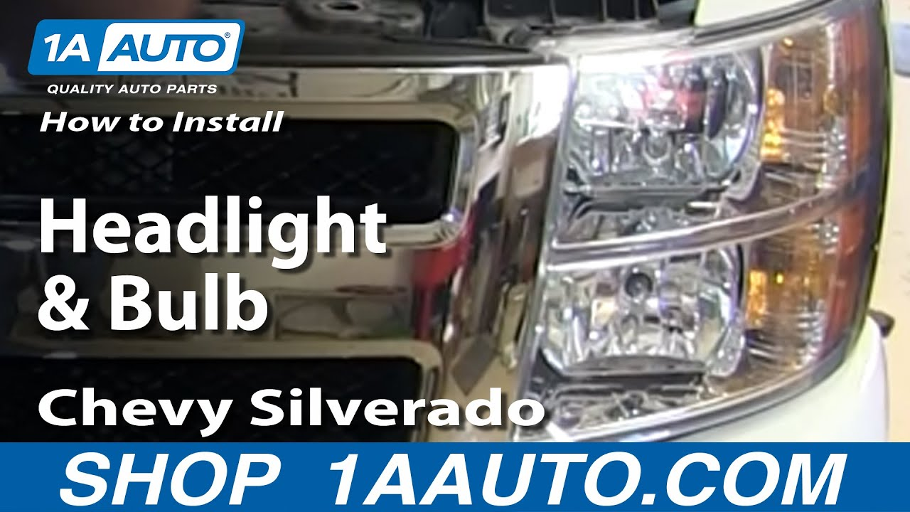 how to replace headlights bulbs 07 13 chevy silverado [ 1280 x 720 Pixel ]