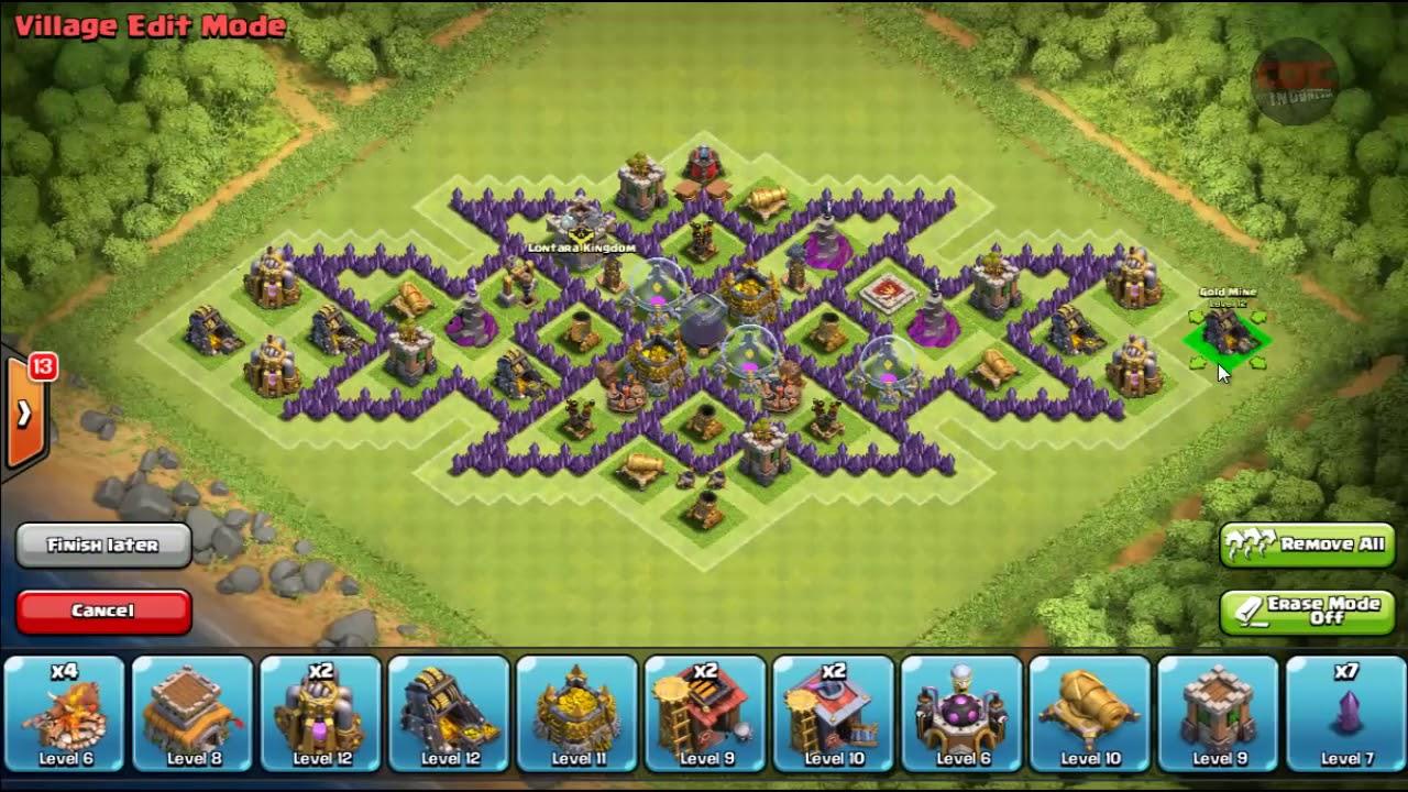 Base Coc Th 8 Triple X 6