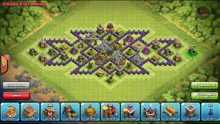 COC GAMES : Farming Base TH 8 Triple xXx Design + With Air Sweeper Speed Build