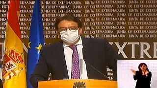 Extremadura prorroga aislamiento de municipios y cierre hostelería y comercio