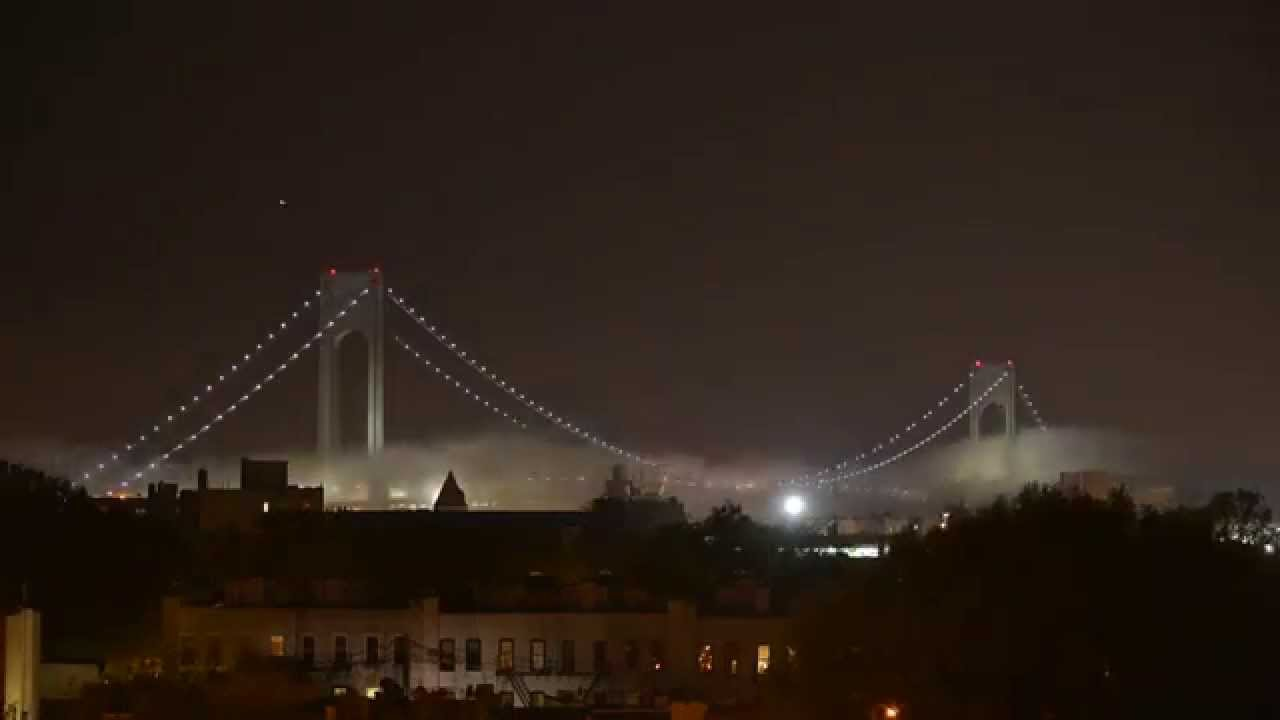 Verrazano-Narrows Bridge at night. - YouTube