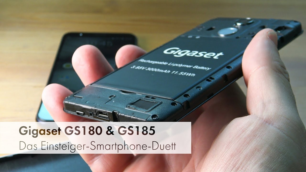 gigaset gs180 gs185 einsteiger smartphone made in. Black Bedroom Furniture Sets. Home Design Ideas