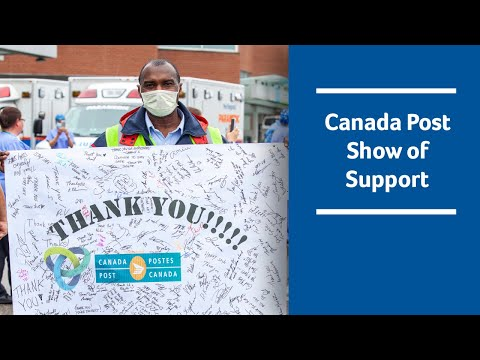 Canada Post Thanks Health Care Workers in Mississauga