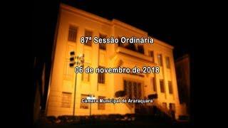 87ª Sessão Ordinária 06/11/2018