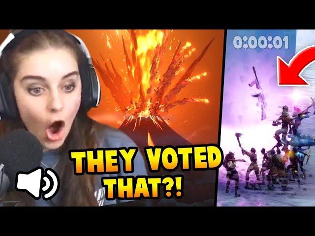 Fortnite Volcano LIVE Event REACTION | Bye Tilted! WTF DRUM GUN?!