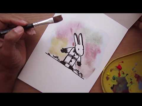 Learn Watercolor: Draw an Ink and Wash Rabbit with Creative Scoop