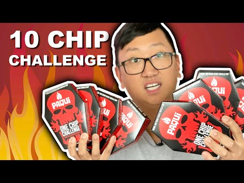 Eating 10 of the Worlds Hottest Chip
