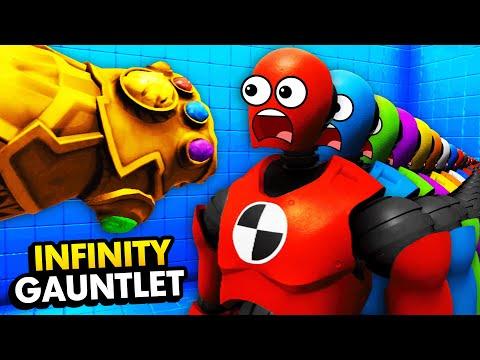 Building INFINITY GAUNTLET & Destroying INFINITE DUMMIES (Funny Rage Room VR Gameplay)