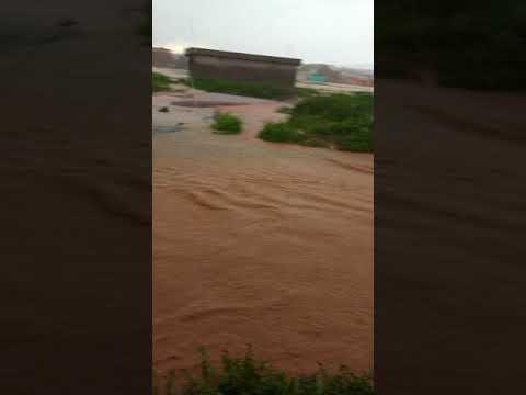 Bairro Canelas inundado pela chuva Montes Claros 13/01/2018