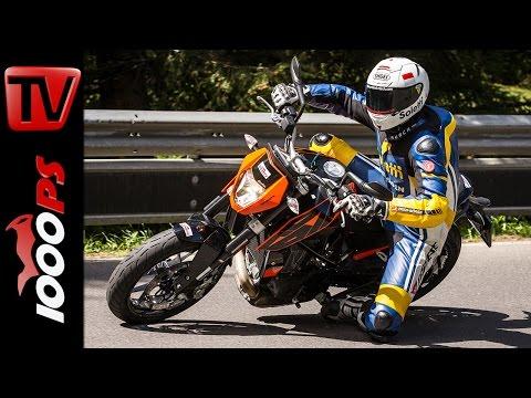 KTM 690 Duke Test 2016 | Motorrad Quartett | Action, Onboard, Details