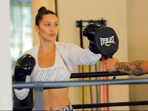 Bella Hadid At Gotham Gym in NYC
