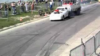 Carpulling s'Gravendeel 2010 The Stig 1ste manche autotrek.