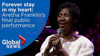 Baixar Aretha Franklin's final public performance