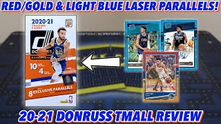 RED/GOLD & LIGHT BLUE LASER PARALLELS! | 2020-21 Panini Donruss Basketball Asia TMall Break/Review