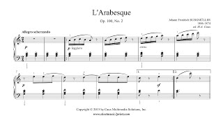 Burgmüller : Arabesque, Op. 100, No. 2