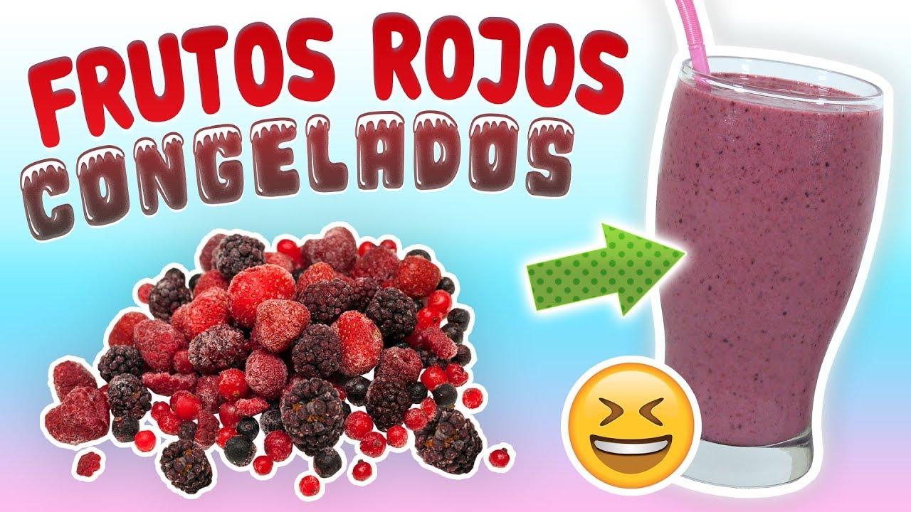 Batido frutos rojos congelados