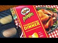 LIVE Tasting Pringles THANKSGIVING DINNER - turkey, stuffing, cranberry, pumpkin pie chips