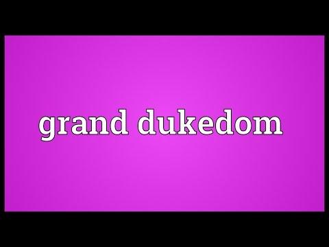 Header of dukedom