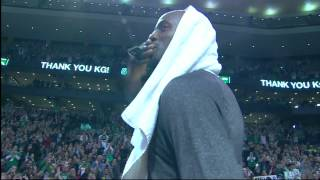 Celtics Kevin Garnett Tribute In-Game vs Brooklyn