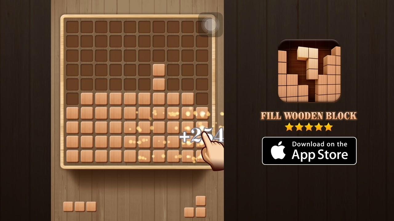 Fill Wooden Block Landscape 6s Square