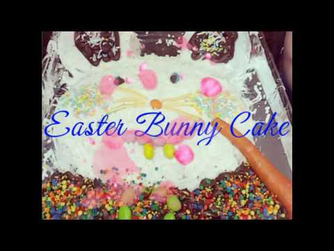 Easy Easter Bunny Cake/Cooking With Kids