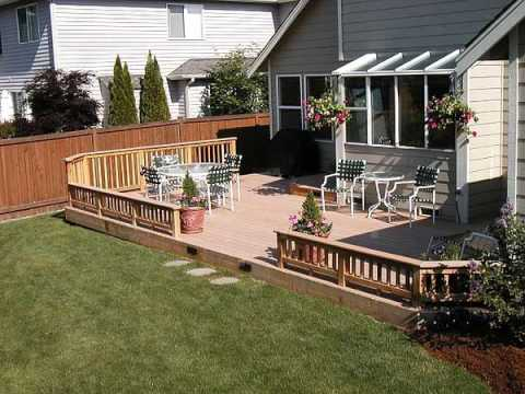 residential wood deck on flat roof