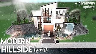 Roblox | Bloxburg | Modern Hillside Home + giveaway update