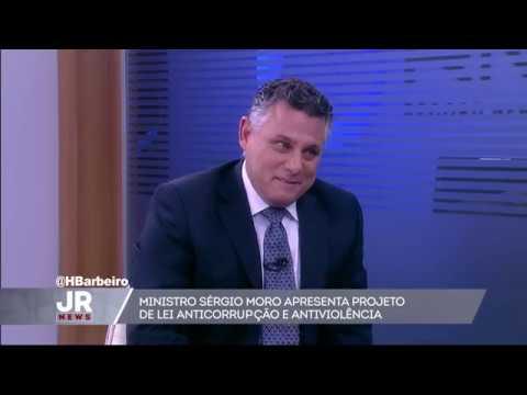 Jornal da Record News: Ministro Sérgio Moro apresenta PL Anticorrupção e Antiviolência