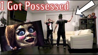 GETTING POSSESSED PRANK ON JAYSTATION!!! (He punched me)