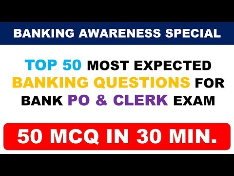 Top 50 Important Banking Awareness Questions for Bank PO & CLERK