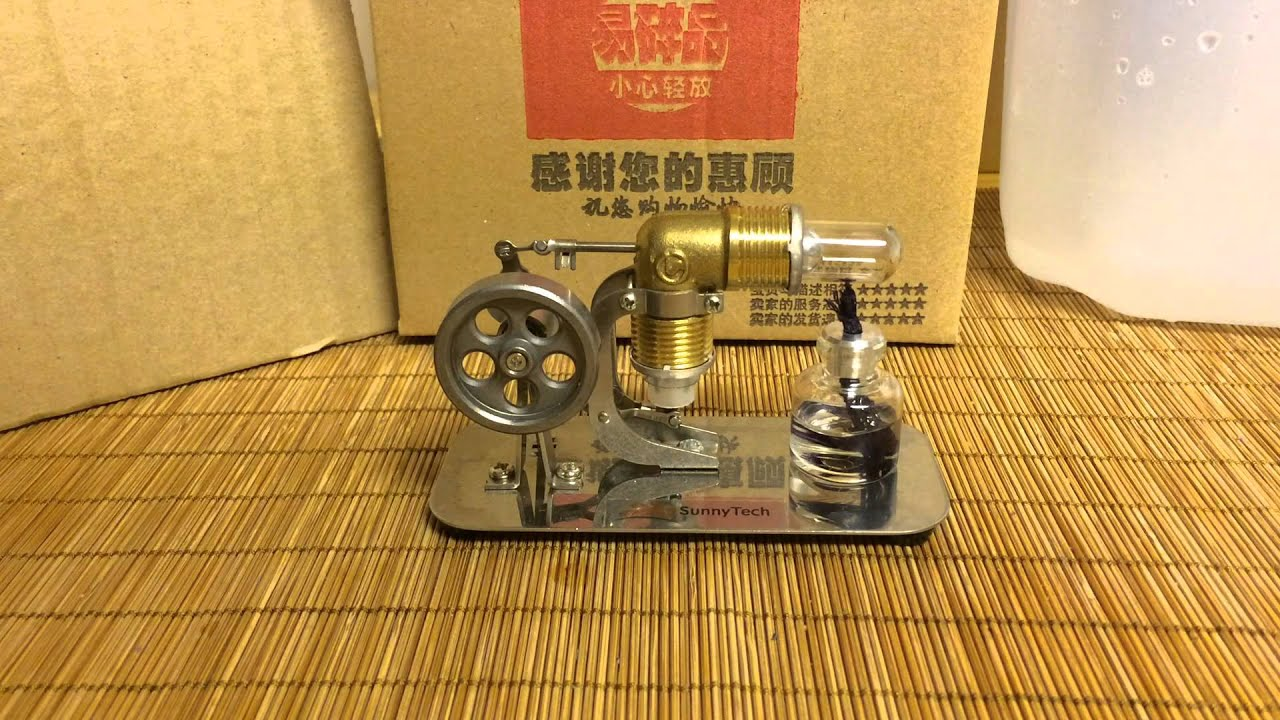 Sunnytech Mini Hot Air Stirling Engine Motor Review Youtube