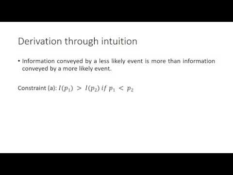 Information Theory and Entropy - Intuitive introduction to these concepts