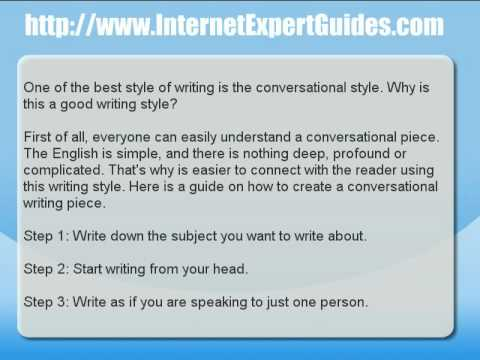 Article Writing - A Guide to Writing an Article With a Conversational Flow