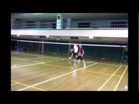 South Korea: Playing badminton